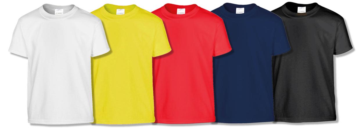 magliette t-shirt cotone vari colori