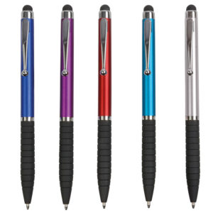 penna twist in plastica touch screen impugnatura gommata