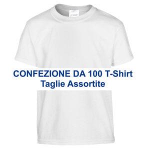confezione 100 T-Shirt uomo