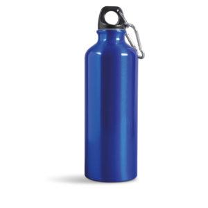 borraccia alluminio con moschettone blu