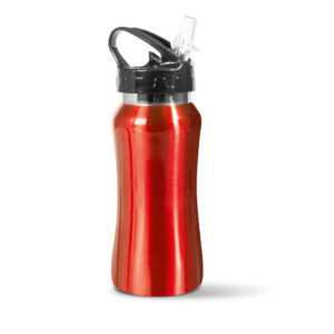borraccia in alluminio 450 ml rossa
