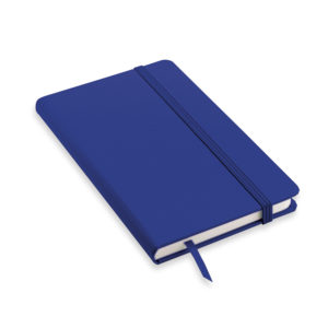 Block notes a righe blu copertina soft touch