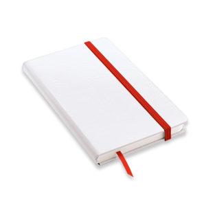 block notes formato A5 elastico rosso